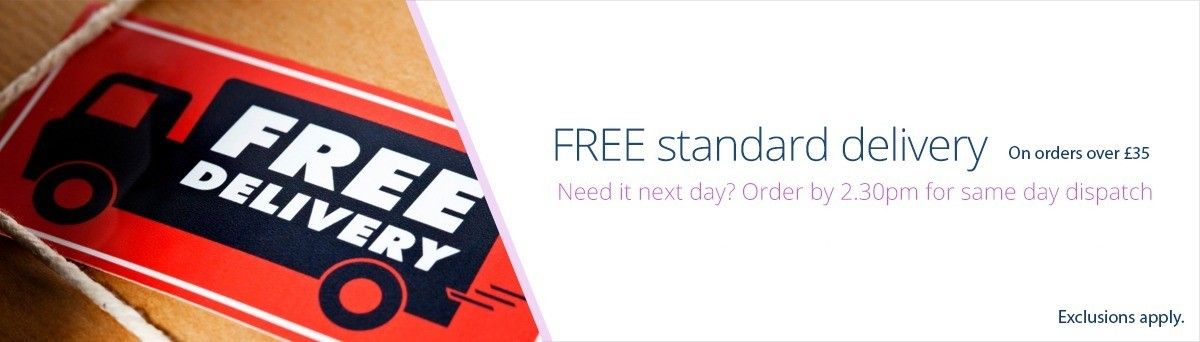 Free standard UK delivery